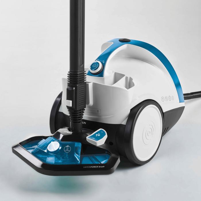Aparat de Curatat cu Abur Vaporetto Smart 100_B, 1500 W, 2 l, 4 Bar, 110 gr/min, Alb/Albastru 3
