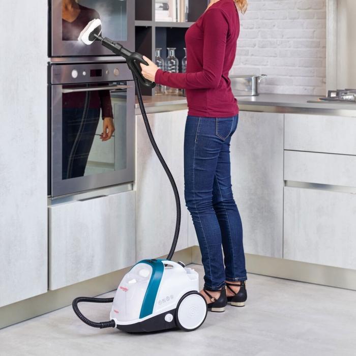 Aparat de Curatat cu Abur Vaporetto Smart 100_B, 1500 W, 2 l, 4 Bar, 110 gr/min, Alb/Albastru 5