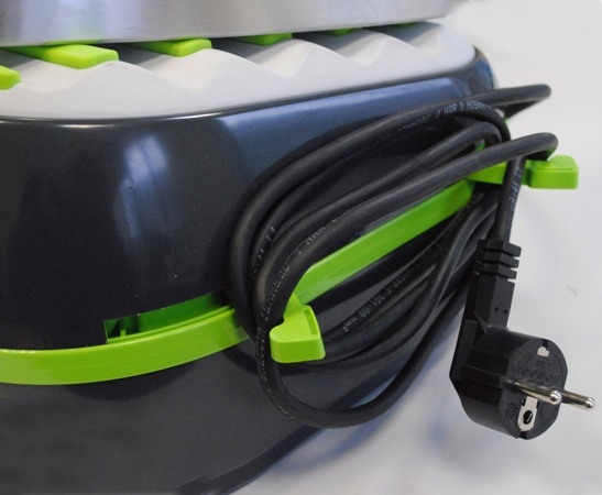 Statie de Calcat Polti Vaporella Forevere Eco, 2000 W, 0.5 l, Talpa Aluminiu, 150 gr/min, Display LCD,  Sistem Anticalcar, Gri/Verde