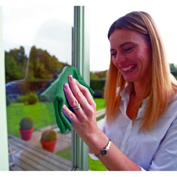 Set doua lavete premium din microfibra e-cloth pentru geamuri, oglinzi, vitralii, pervaze si tocarie