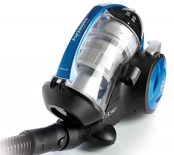 Aspirator Fara Sac Polti Forzaspira MC 350 Turbo & Fresh, 1.8 l, 700 W, Filtru HEPA, Clasa A , Negru/Albastru 1