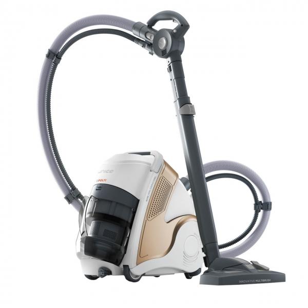 Aspirator Polti Unico MCV 85 Total Clean & Turbo, Filtrare Multiciclonica 5 Stadii, Functie Igienizare Abur si Uscare , 2200 W, Filtru Hepa, Auriu