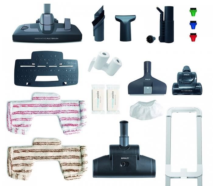 Aspirator Polti Unico MCV 85 Total Clean & Turbo, Filtrare Multiciclonica 5 Stadii, Functie Igienizare Abur si Uscare , 2200 W, Filtru Hepa, Auriu 4