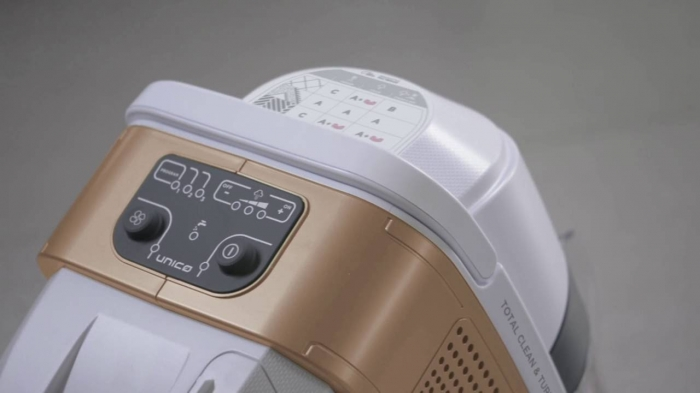 Aspirator Polti Unico MCV 85 Total Clean & Turbo, Filtrare Multiciclonica 5 Stadii, Functie Igienizare Abur si Uscare , 2200 W, Filtru Hepa, Auriu 5