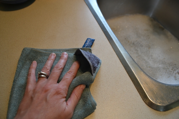 Laveta Premium E-Cloth din Microfibra pentru Curatarea Bucatariei, Compartiment Abraziv, 32 x 32 cm 7