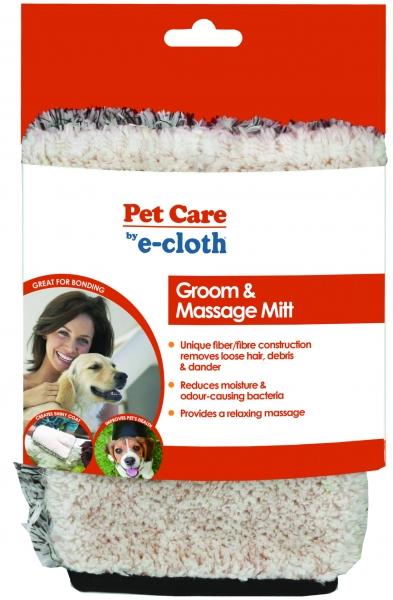 Manusa Premium E-Cloth din Microfibra pentru Ingrijire si Masaj Cani si Pisici, 23.5 x 17 cm
