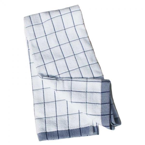 Prosop Premium E-Cloth de Bucatarie pentru Pahare, Farfurii de Portelan, Tacamuri, 60 x 40 cm, Alb/Albastru 3