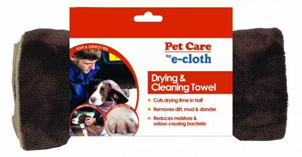 Prosop Premium E-Cloth din Microfibra pentru Curatare si Uscare Caini si Pisici 1