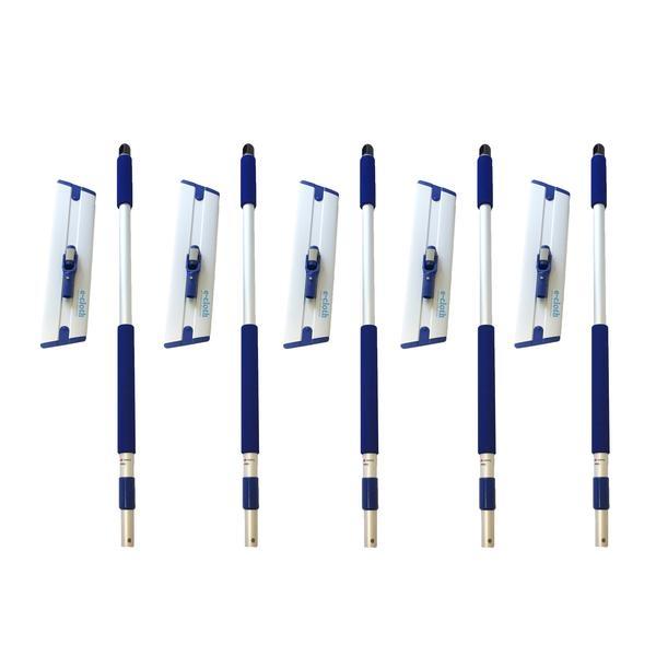 Set 5 x Mop Profesional Premium E-Cloth, Maner + Baza, Telescopic 1-1.5 m, Pardoseli, Hotel, Restaurant, Pub