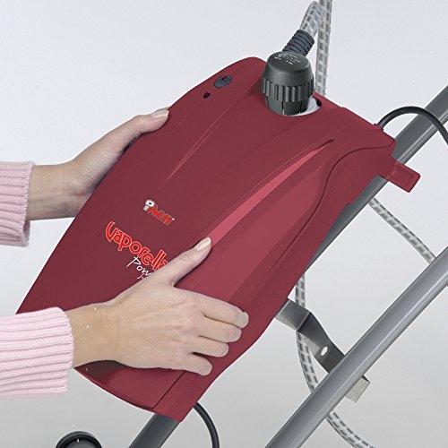 Sistem de Calcat Integrat Polti Vaporella Power System, Functie Suflare, Functie asapirare, Functie Incalzire Blat, Talpa Aluminiu, 2440 W, 1.5l, 3 BAR, Jet Abur 110 gr/min, Gri