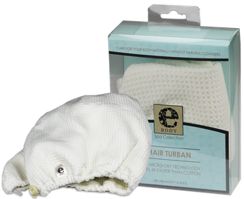 Turban Premium E-Cloth din Microfibra pentru Par, 50 x 26 cm